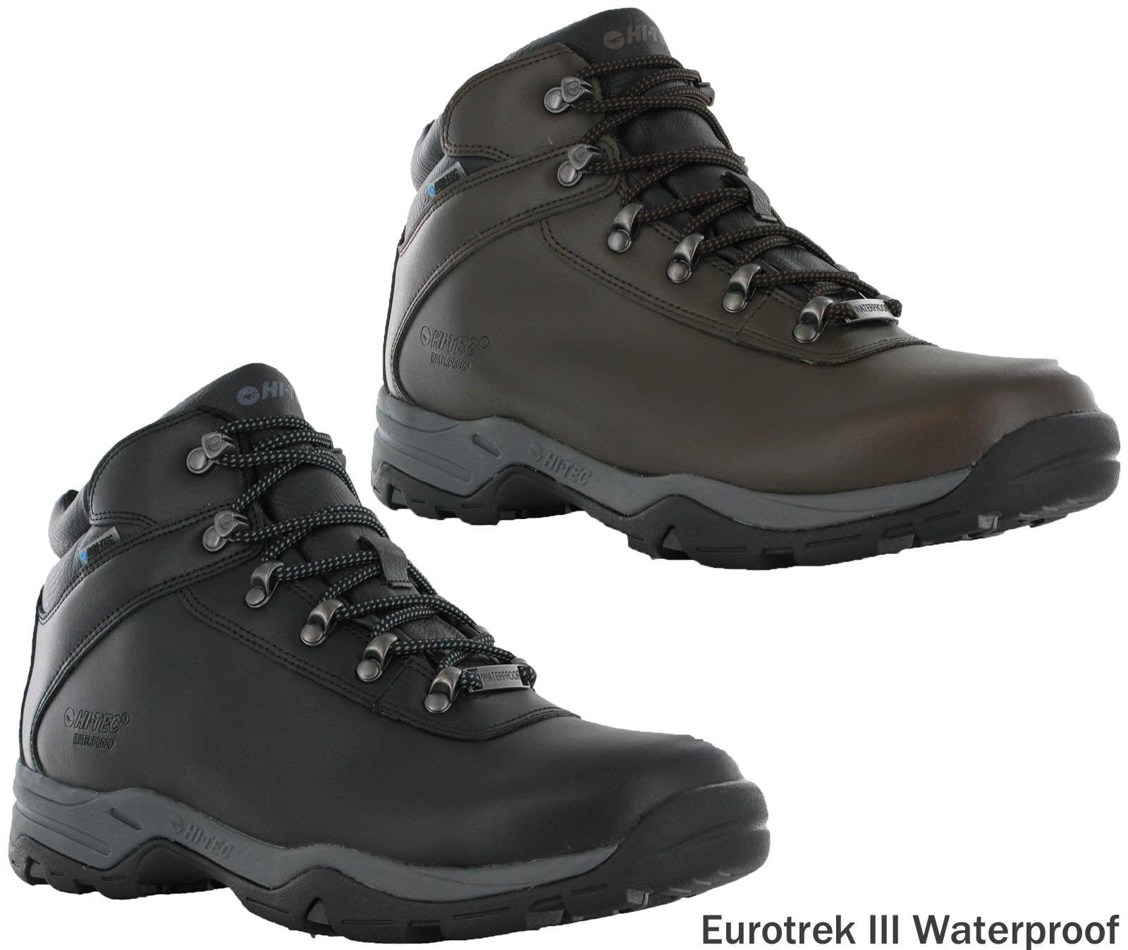 b543182fb8e Details about Hi-Tec Eurotrek III Leather Walking Hiking Trail Waterproof  Outdoor Boots Mens