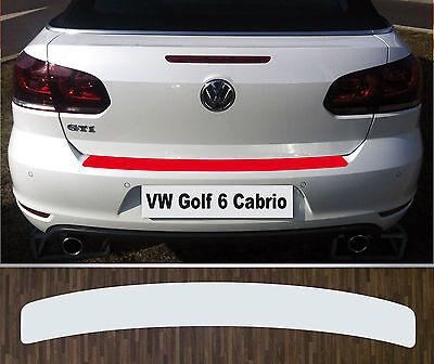 Ladekantenschutz Lackschutzfolie transparent VW Golf 6 Cabriolet (ab 2011)