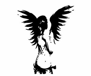 GOTH ANGEL VINYL WALL ART DECAL STICKER  GRAPHIC #00