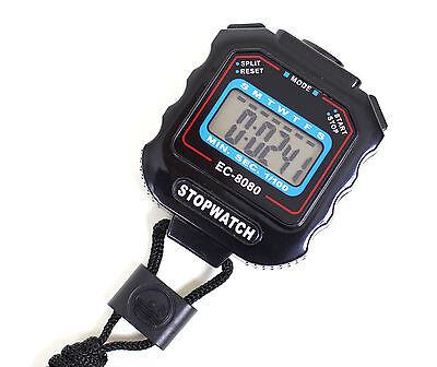 Stoppuhr mit Digital Anzeige / Schwarz / ±1/100 Sek. / Sport Pro EC-8080