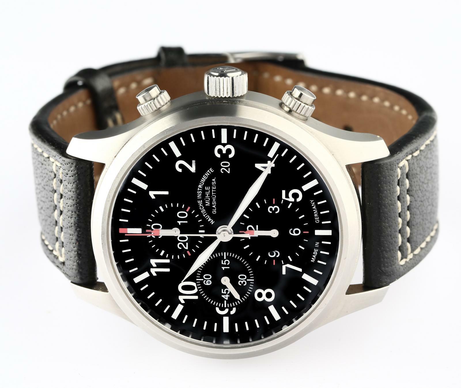 Glashutte / SA Muhle Terrasport Ref# M1-37-70 Automatic Chronograph Wristwatch - watch picture 1