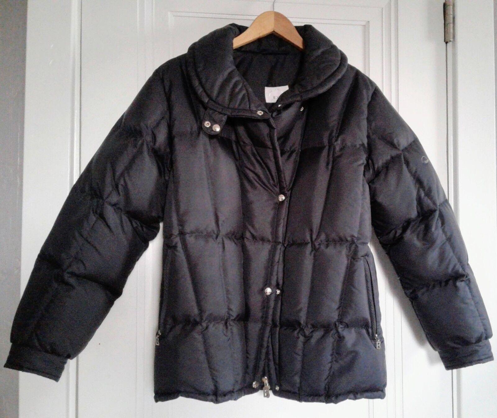 Купить Bogner - Women's BOGNER Quilted Short Puffer Jacket Black size 12, Goose Down Ski Fashion