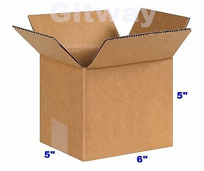25 Pack 6x6x5 Corrugated Carton Cardboard Packaging Shipping Mailing Box Boxes