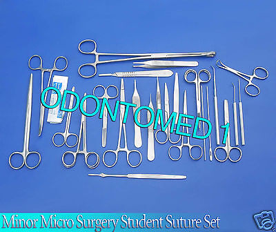 77 Pc Minor Micro Surgery Student Suture Surgical Dissection Instruments Ds-878