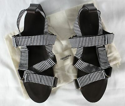 NANUSHKA - $375 STRIPED/TEXTURED VELCRO-STRAP