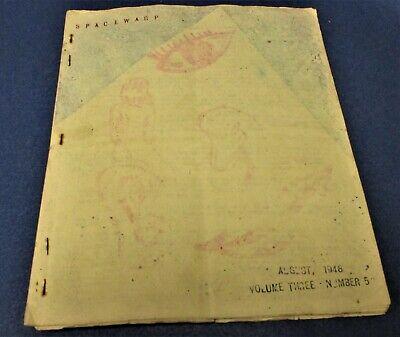 SPACEWARP #17 Art Rapp sf fanzine August 1948