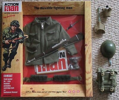 vintage action man 40th anniversary combat soldier card boxed