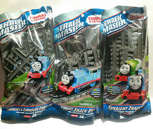 THOMAS TRACKMASTER EXPANSION TRACKs ALL 3 SETS SWITCHES, CURVED & STRAIGHT TRACK