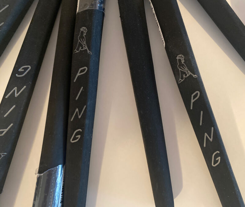 """NEW AUTHENTIC Ping Man PP58 """"Tiger"""" Putter Grip. Blacked Out. Fast Shipping $.99"""