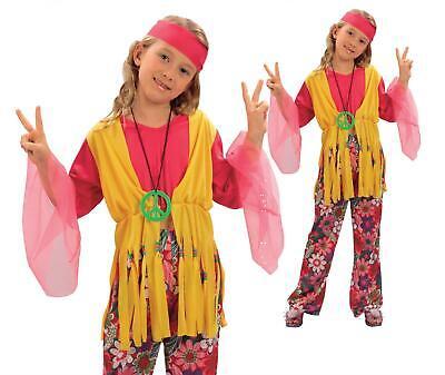 Hippy Hippie Girls Kids 60s 70s Groovy Fancy - Kid Hippie Kostüme