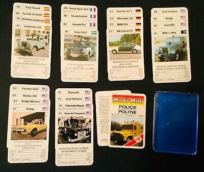 International police cars vintage mini kwartet quartets game 1970's COMPLETE
