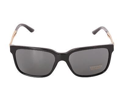 Versace VE4307-GB187-58mm Men's Black Plastic Frame, Gray Lens Sunglasses