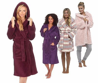 Cozy Robe (LADIES SOFT COZY HOODED WARM WINTER DRESSING GOWN ROBE )