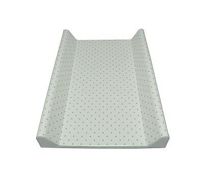 Wickelauflage 2-Keil Dots grey/ecru 70x50 cm Wickeltisch Ökotex Auflage Baby Dot Keil