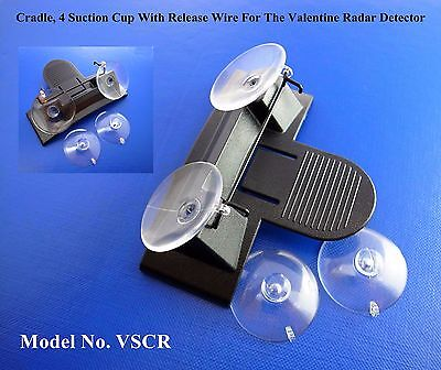 Replacement Cradle, 4 Nice Suction Cup With Release Wire For The Valentine Radar