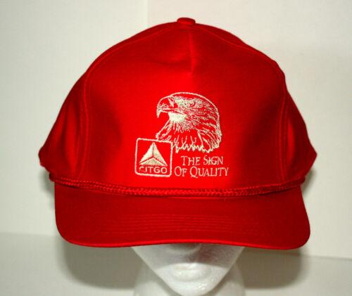 VTG 1980s Red Citgo Racing Engine Oil & GAS F1 Captains Baseball Hat Cap NOS