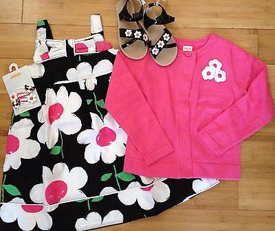 NWT Gymboree Daisy Park Outfit/Set Dress/Cardigan/Sandals/No Hair Size 4T Girls