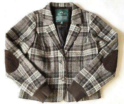 BALLADE brown checked wool blend blazer - jacket -  size M