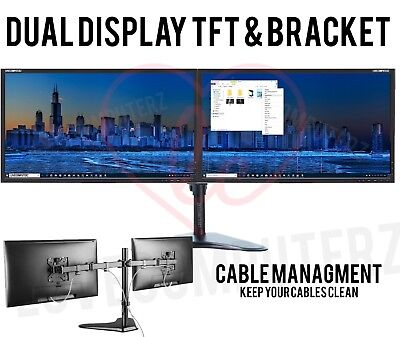 "Cheap 22"" TFT Dell COMPUTER PC LAPTOP MONITOR SCREEN VGA FLATSCREEN DUAL SCREEN"