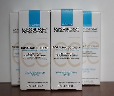 La Roche Posay Rosaliac CC Cream Tone Correcting SPF 30  4 x 3ml Samples