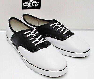 VANS Vault Saddle Oxfords VN-0KXNBA2 TB8C Black/White Men's size: - Saddle Shoes Vans