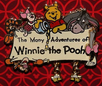 Disney The Many Adventures of Winnie the Pooh Dangle Logo w/ Bees 2008 Pin