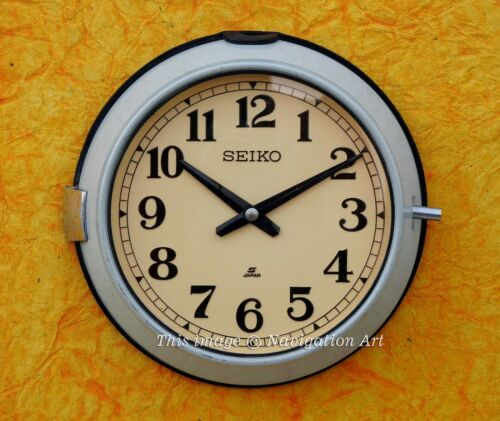 Vintage Industrial Reclaimed Salvage Seiko Ship Clock Navigation Marine Salvage