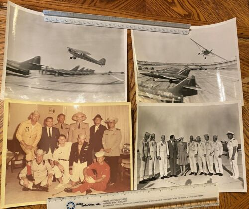 Vintage Lot Official US Navy Blue Angels Photos with President Nixon