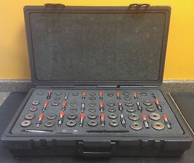 Federal Master Setting Pneumatic Ring Plug Gauge Set 37 Rings 20 Plugs Case
