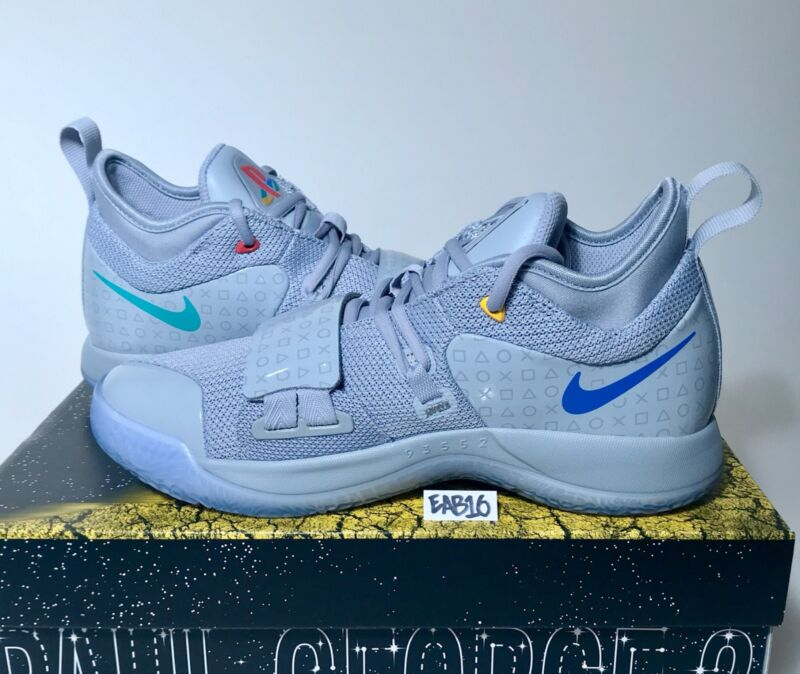 sports shoes 9630c 3323c Nike PG 2.5 PlayStation Paul George PS4 Classic Wolf Grey ...