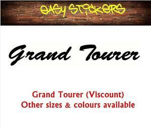 290mm Grand Tourer Viscount Caravan Retro Vintage Replacement Sticker