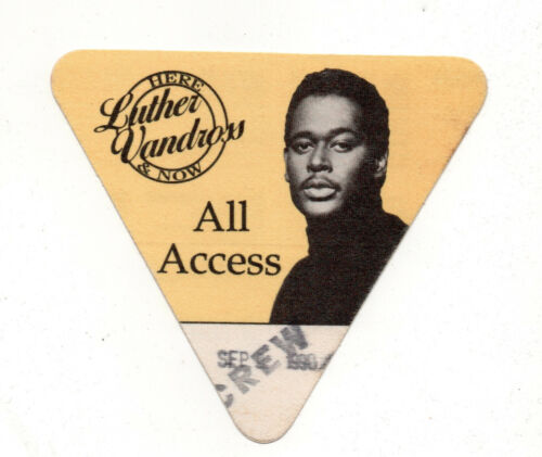 Luther Vandross 1990 Here & Now Tour All Access Satin Backstage Pass