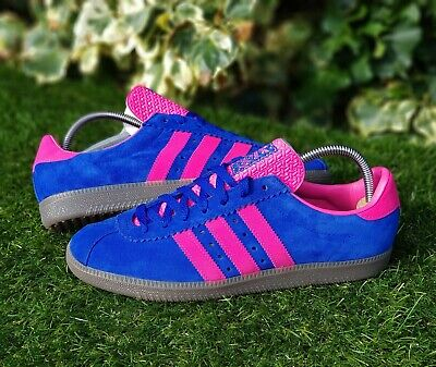 ❤ BNWB & Authentic Adidas Originals ® Padiham Trainers in Blue & Pink UK Size 8