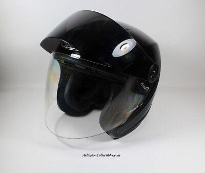 GMAX MARSHALL GM17S SPC OPEN FACE BLACK MOTORCYCLE HELMET & FLIP SHIELD MEN