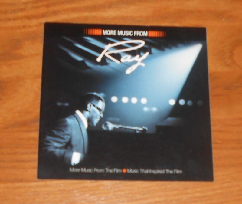 Ray Charles Sticker 2-Sided Original 2004 Promo 4x4