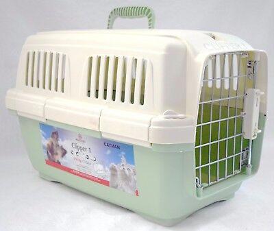 NEW Marchioro Clipper 1 Cayman Small Pet Carrier 7-22lb Tan/Green Travel Cat Dog ()