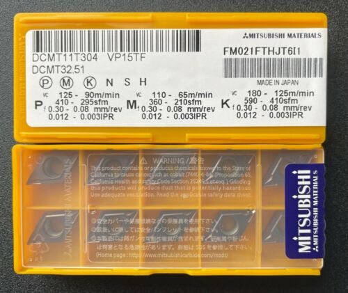Mitsubishi DCMT 32.51 DCMT11T304 VP15TF Carbide Inserts (10 PCS)