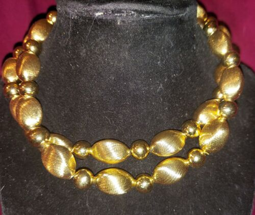 Gorgeous Vintage Napier Gold beaded necklace new with Tags