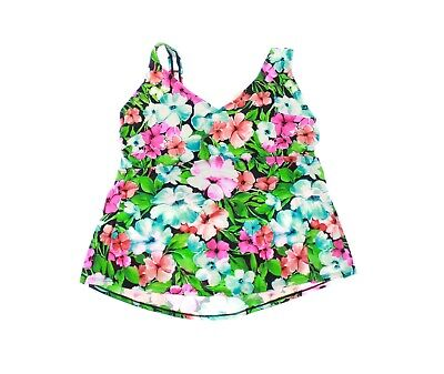 8355880d105 NEW - SWIMSUITS FOR ALL Women's FLORAL Multicolor TANKINI TOP - 20