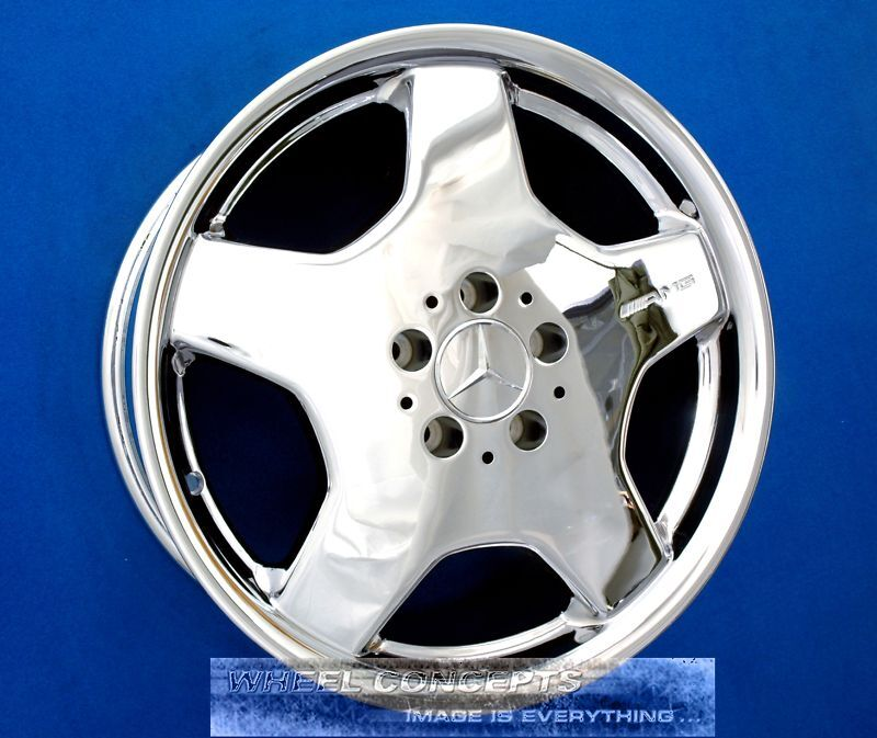 "Mercedes Amg S430 S500 S550 S55 S600 18"" Chrome Wheels Rims S 430 500 55 600 Oem"