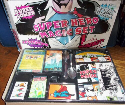 Marvin%27s+Magic+Super+Hero+Magic+Trick+Set+New+Unused+-+Some+wear+and+tear+to+box