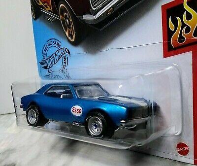 New! Hot Wheels. Custom!!.. 67  Camaro..Esso..Real Riders...Zgrafx KusTomZ