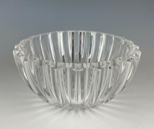 "Tiffany & Co. Crystal Heart Rim Bowl 6 1/2"""
