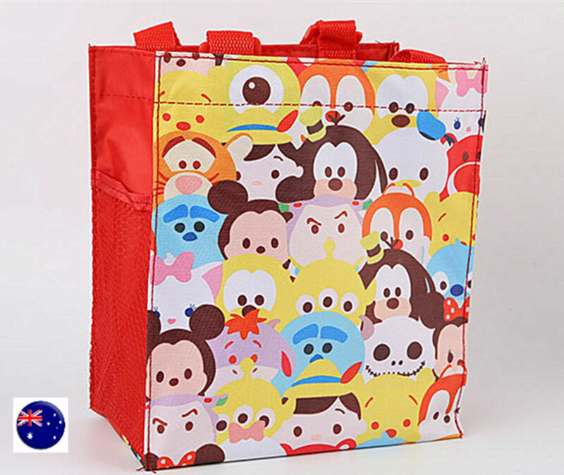 Girl Kids Children Red small Tote Waterproof Carry Lunch Box mini Cute hand Bag