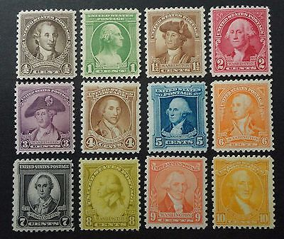 SCOTT #704-715 MINT NH  1932  GEORGE WASHINGTON  BIRTHDAY STAMPS  COMPLETE  SET