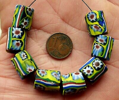 Pearl Glass Antique Murano Africa Antique African Venetian Glass Trade Bead A8
