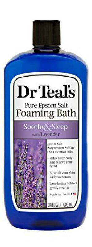 foaming bath with pure epsom salt soothe