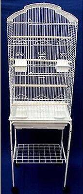 Canary Parakeet Cockatiel LoveBird Finch Bird Cage White 6804-110