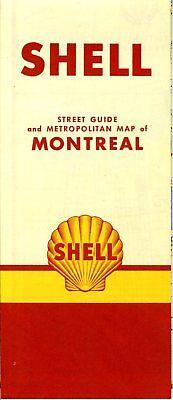 1950 Shell Road Map: Montreal (no header) NOS