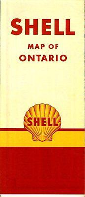 1950 Shell Road Map: Ontario (no header) NOS